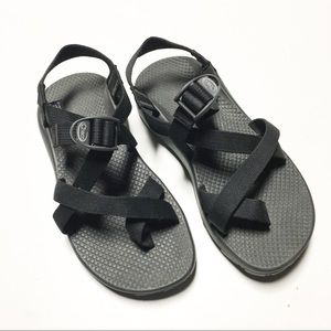 Chaco Classic Black Z-Cloud With Toe Strap W8